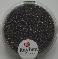 Rocailles 2mm mit Silbereinzug + Rainbow purple velvet