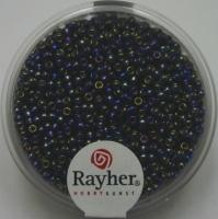 Rocailles 2mm mit Silbereinzug + Rainbow petrol