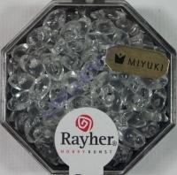 Magatama Perlen 4x7mm transparent bergkristall