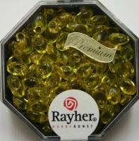 Magatama Perlen 4x7mm transparent goldgelb