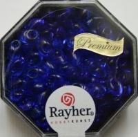 Magatama Perlen 4x7mm transparent royalblau