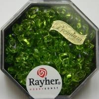 Magatama Perlen 4x7mm transparent apfelgrün