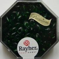 Magatama Perlen 4x7mm transparent smaragd