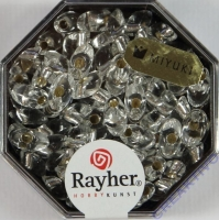 Magatama Perlen 4x7mm Silbereinzug bergkristall