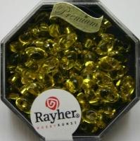 Magatama Perlen 4x7mm Silbereinzug goldgelb