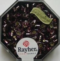 Magatama Perlen 4x7mm Silbereinzug amethyst