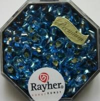 Magatama Perlen 4x7mm Silbereinzug aquamarin