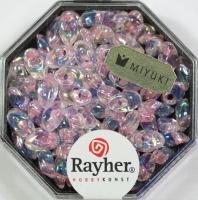 Magatama Perlen 4x7mm gelüstert Rainbow rosé