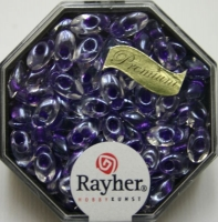 Magatama Perlen 4x7mm gelüstert Rainbow violett