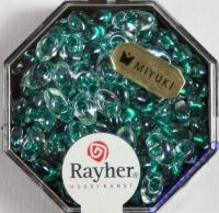 Magatama Perlen 4x7mm gelüstert Rainbow smaragd