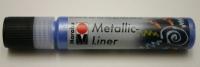 Marabu Metallic Liner 25ml Metallic-blau (Restbestand)