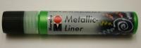 Marabu Metallic Liner 25ml Metallic-hellgrün (Restbestand)