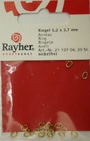 Rayher Ringel 5,2x3,7mm goldf. 20St.