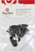 Kunststoffspiegel-Streuteile Herzen 2+3cm