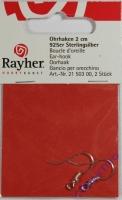 Rayher Ohrhaken 20mm 2 Stück 925 Sterlingsilber