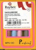 Rayher Tafelkreide 12 Stück bunt