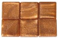 Acryl-Mosaik, 1x1 cm, metallic, safran