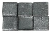 Acryl-Mosaik, 1x1 cm, metallic, silbergrau