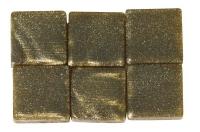 Acryl-Mosaik, 1x1 cm, metallic, champagner gold