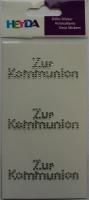 Heyda Sticker mit Acrylsteinen Zur Kommunion