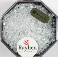Delica-Rocailles, 2,2 mm ø transparent Rainbow, mondstein