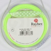 Rayher Satinband mit Punkten 9,5mm hellgrün