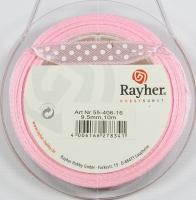 Rayher Satinband mit Punkten 9,5mm rosé