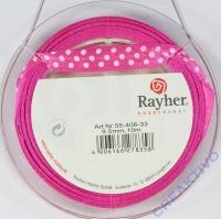 Rayher Satinband mit Punkten 9,5mm pink