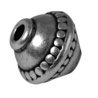 Rockstars Metall-Perle 12mm altsilber