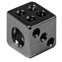 Rockstars Metall-Zierlement Würfel 8x8m altsilber