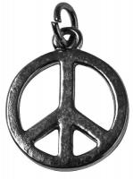 Rockstars Metall-Anhänger Peace 16mm silber
