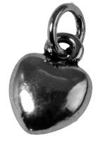 Rockstars Metall-Anhänger Herz 10mm silber