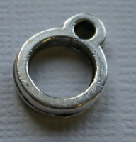 Rockstars Metall-Verschluss Zierelement 14mm silber