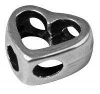 Rockstars Metall-Zierelement Herz 11mm silber
