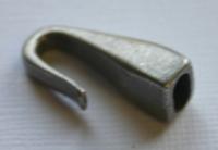 Rockstars Metall-Verschluss Zierelement 26mm silber (Auslaufartikel)
