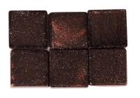 Acryl-Mosaik, 1x1 cm, metallic, mahagoni