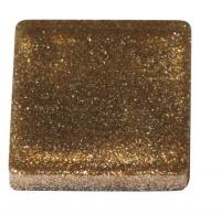 Acryl-Mosaik, 1x1 cm, metallic, karamell