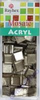 Acryl-Mosaik, 1x1 cm, metallic, sahara