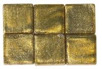 Acryl-Mosaik, 1x1 cm, metallic, brill.gold