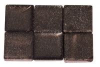 Acryl-Mosaik, 1x1 cm, metallic, taupe-brown