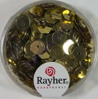 Pailletten, 6 mm glatt, gold