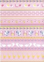 Transparentpapier Baby rosa Motiv 01