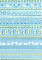 Transparentpapier Baby blau Motiv 01