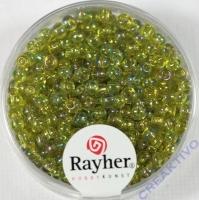 Rocailles 2,6mm ø transp. gelüstert hellgrün