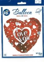 Folienballon I love you 18 / 45cm