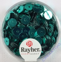 Pailletten, 6 mm glatt, jade