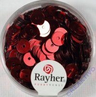 Pailletten, 6 mm glatt, rot