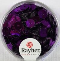 Pailletten, 6 mm glatt, lila
