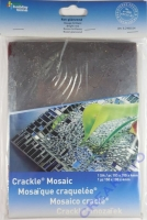 Crackle Mosaik Platte 15x20cm rot glänzend