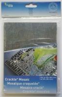 Crackle Mosaik Platte 15x20cm crystal grau